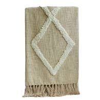 Champagne Modern Tufted Cotton Throw
