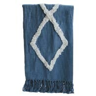 Denim Modern Tufted Cotton Throw