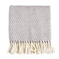 Grey Pinwheel Cotton Throw