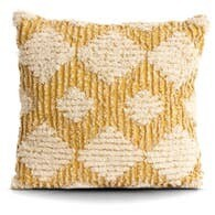 Yellow MCM Diamond Pillow