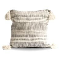 Gray Tassels Pillow