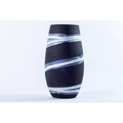 Matamiss Black and White Narrow Vase