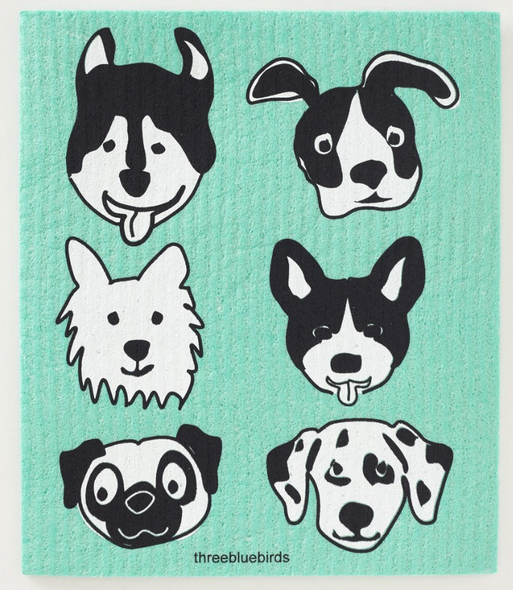 Swedish Paper Towel, Six dog faces