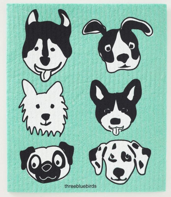 Swedish Paper Towel, Six dog faces
