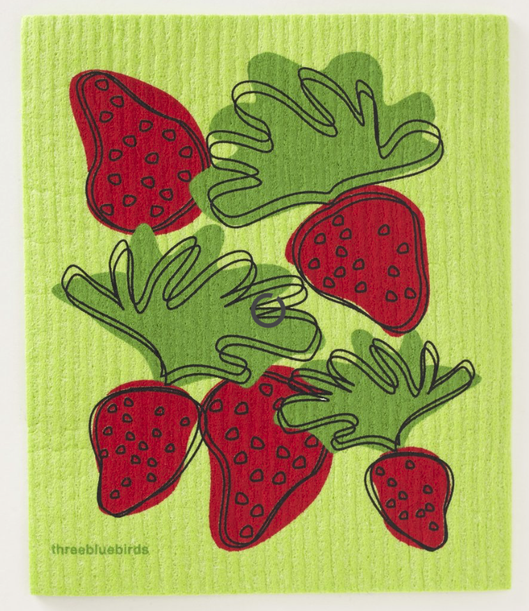 Swedish Paper Towel, Strawberries