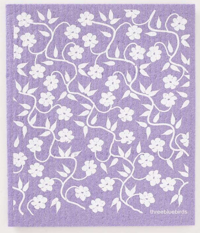Swedish Paper Towel, Flowers, white vines