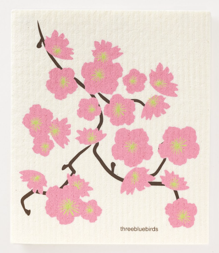 Swedish Paper Towel, Cherry Blossoms