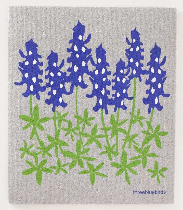 Swedish Paper Towel, Blue Bonnets