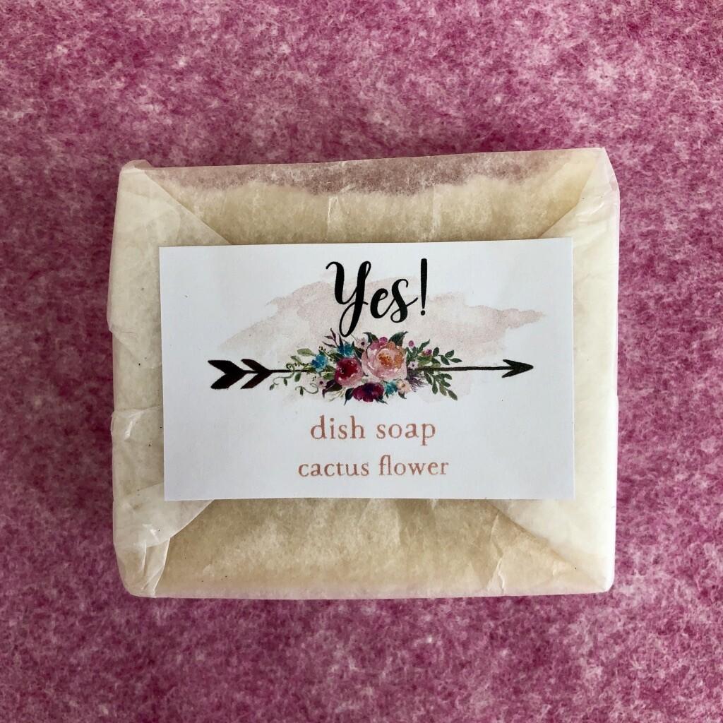Dish Soap Block, Cact Flowe
