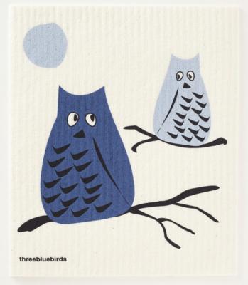 Swedish Paper Towel, Grey Owls