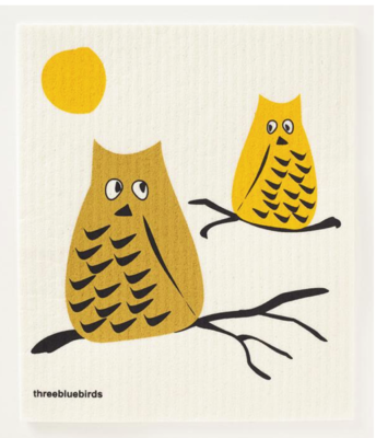 Swedish Paper Towel, Yellow Owl