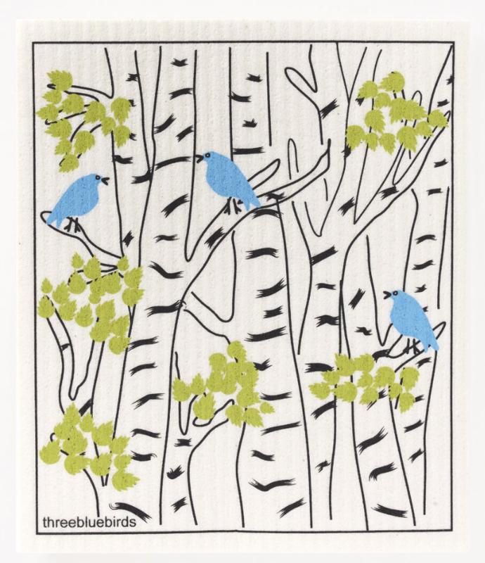 Swedish Paper Towel, Blue Birds