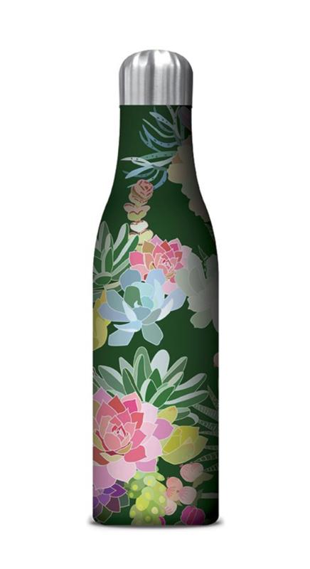 Water Bottle, succulents