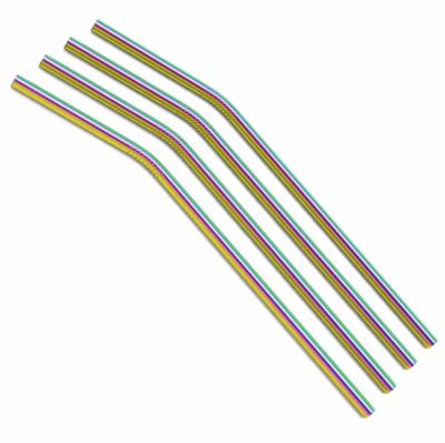 Straws, bent, assort. colors