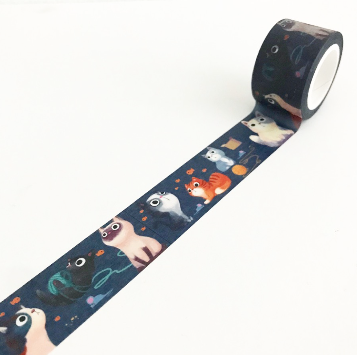 Washi, Navy Cats - wide