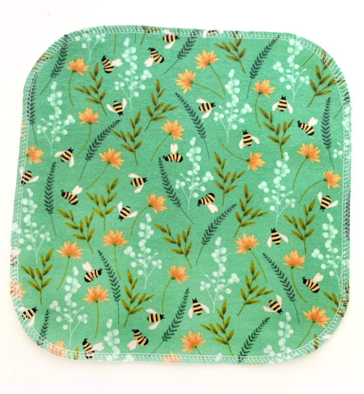 Napkins, Bees & Flowers