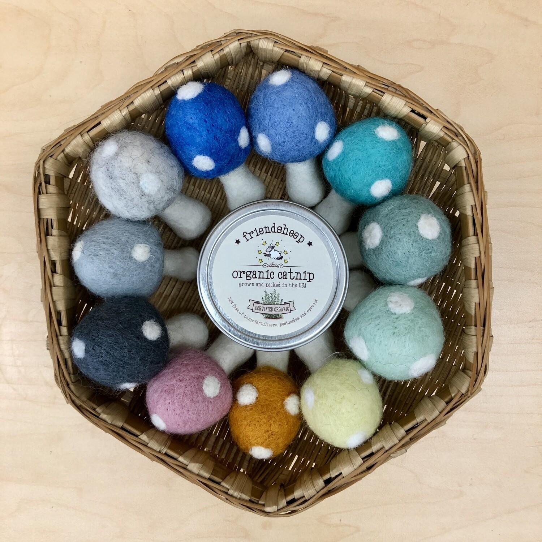 Wool Mushroom Toy