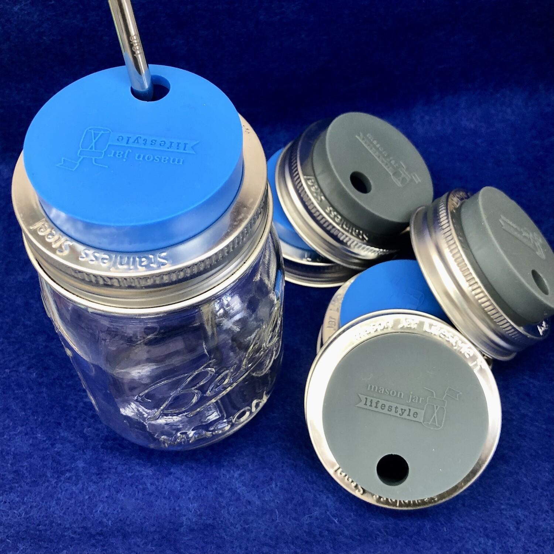 Mason lid, cold drink
