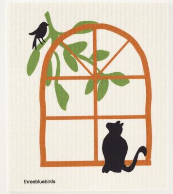 Swedish Paper Towel, Cat-Window