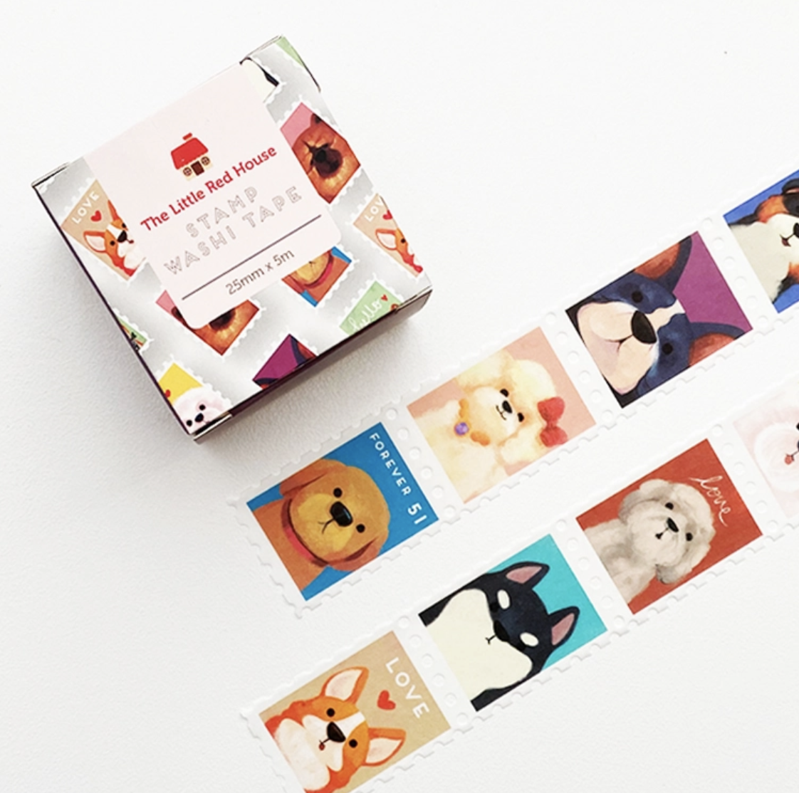 Washi, Dog Stamps - wide