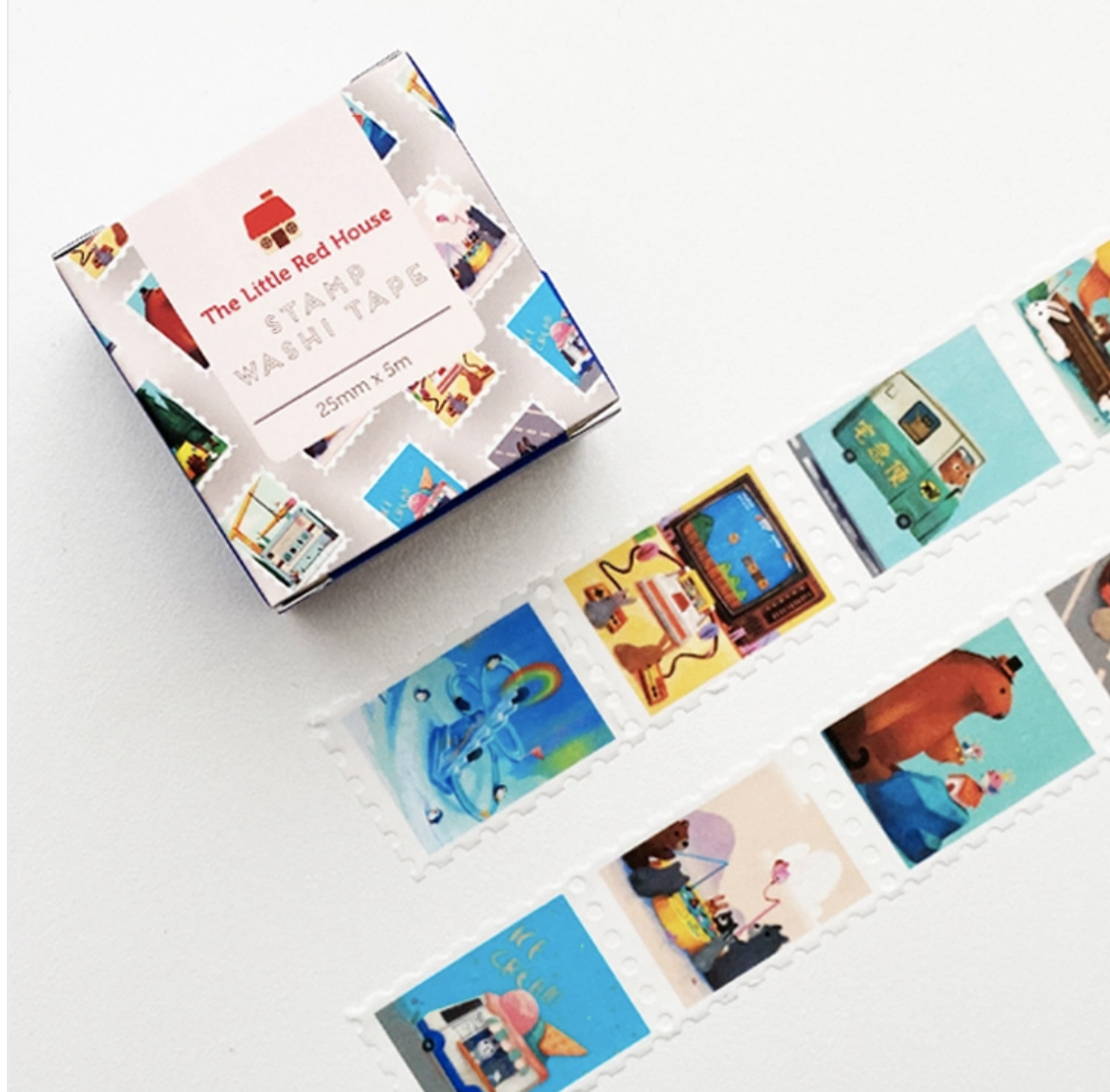 Washi, Busy Animal Stamps  - wide