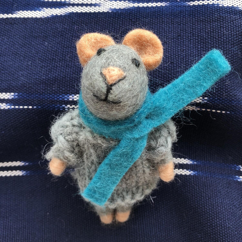 Wool Mice Ornaments
