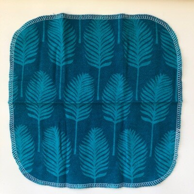 Napkins, Teal Feathers