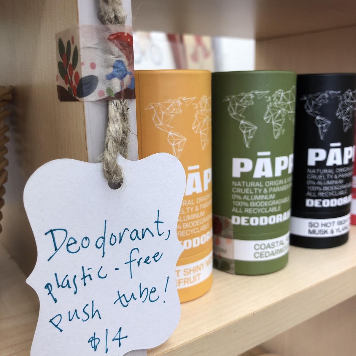 Plastic-free Deodorant