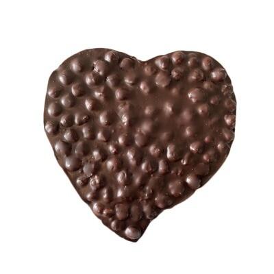 Coeur chocolat noir et noisettes entières (250g)