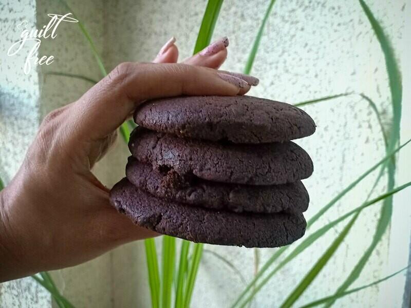 Fudgy Brownie Choco-chip Cookies (Vegan, Gluten-Free)