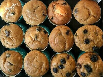 Blueberry Muffins (Eggless)
