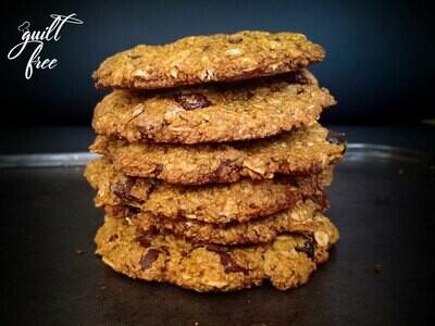 Oatmeal Cranberry Choco-chip Cookies (Vegan, Gluten-Free)