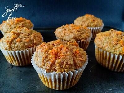 Carrot Cake Muffins (Eggless)