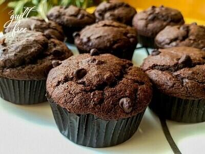 Whole Wheat Dark Chocolate Orange Muffins (Eggless)