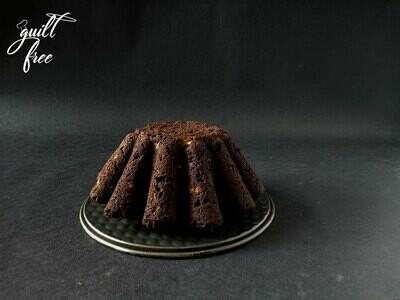 Chocolate Cherry Bundt Tea Cake (Eggless)