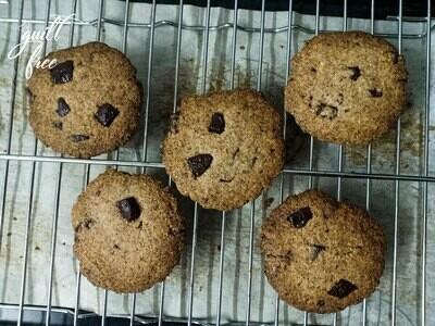 Keto Almond Choco-chip Cookies (Gluten-Free)