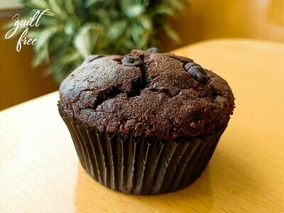 Keto Zucchini Almond Chocolate Muffins (Egg, Gluten-Free)