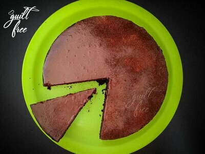 Ragi Chocolate Cake with Dark Chocolate Glaze (Eggless, Gluten-Free)