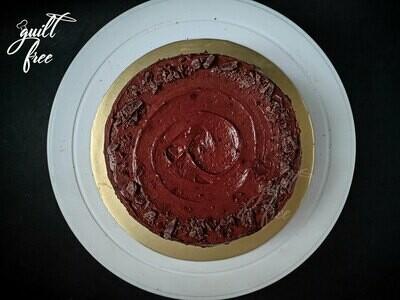 Classic Dark Chocolate Cake (Eggless)