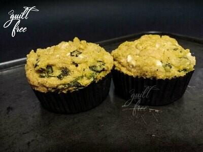 Spinach Corn & Feta Muffins (Gluten-Free)