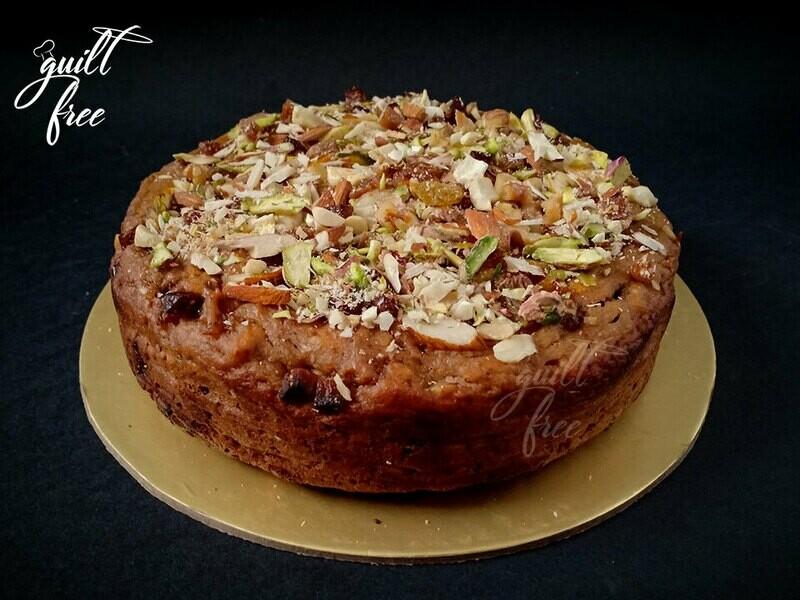 Dry Fruit Cake (Eggless)