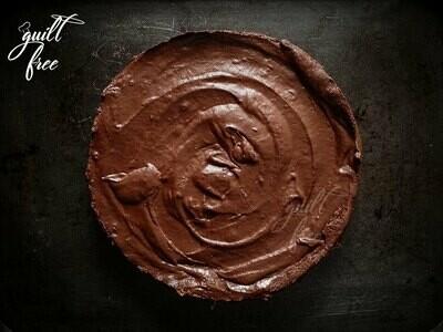 Avocado Dark Chocolate Mousse Cake (Eggless)