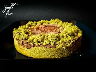 Matcha Almond Cake with Chocolate Ganache (Eggless, Gluten-Free)