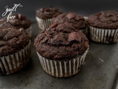 Sorghum (Jowar) Dark Chocolate Orange Muffins (Eggless, Gluten-Free)