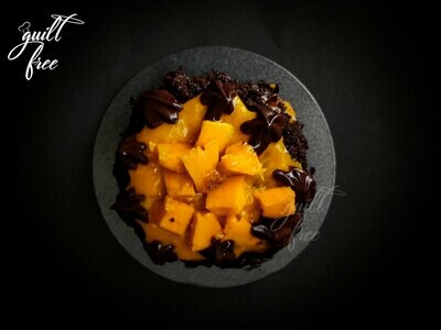 Raw Cacao Mango Cake (Eggless)