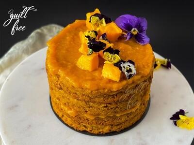 Naked Mango Cake (Eggless, Gluten-Free)