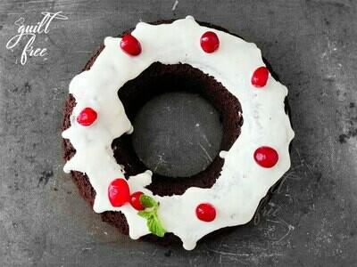 Cherry Vanilla Cake (Eggless)