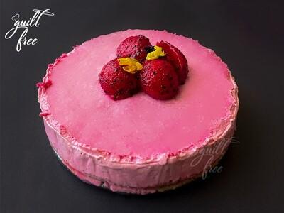 Baked Pitaya Cheesecake (Eggless, Gluten-Free)