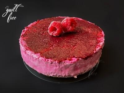Baked Raspberry Pitaya Cheesecake (Eggless, Gluten-Free)
