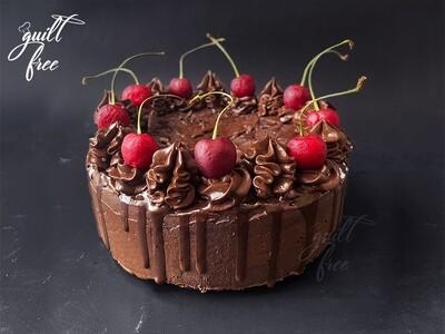 Dark Chocolate Cherry Cake (Eggless)